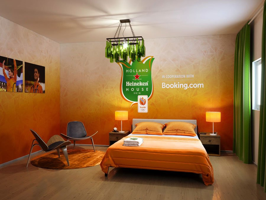 Holland Heineken House - Korea - hotelkamer