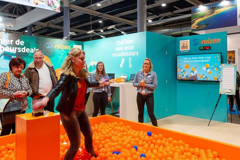 Standbouw op Vakantiebeurs Utrecht voor D-reizen - door Hypsos