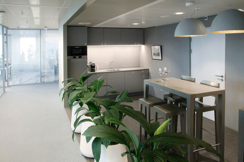 Office interior fit-out for Societe Generale